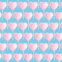 lecca-lecca cuore rosa. modello dolce senza soluzione di continuità. vettore