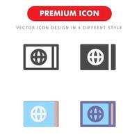 pacchetto dell'icona del biglietto isolato su priorità bassa bianca. per il design del tuo sito web, logo, app, ui. illustrazione grafica vettoriale e tratto modificabile. eps 10.