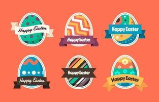 collezione di adesivi di uova di Pasqua dipinte