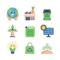 set di icone della giornata della terra vettore