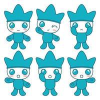 simpatico personaggio blu. vettore