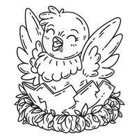 pollo simpatico cartone animato. vettore