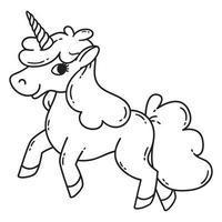 unicorno carino vettoriale. vettore