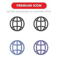 pacchetto di icone di Internet isolato su priorità bassa bianca. per il design del tuo sito web, logo, app, ui. illustrazione grafica vettoriale e tratto modificabile. eps 10.