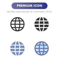 icona di Internet isolato su priorità bassa bianca. per il design del tuo sito web, logo, app, ui. illustrazione grafica vettoriale e tratto modificabile. eps 10.