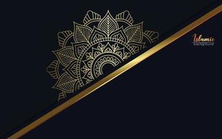 sfondo ornato di lusso oro mandala per invito a nozze, copertina del libro vettore