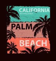 illustrazione vettoriale california, per t-shirt. disegno vettoriale.