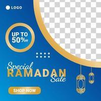 modello elegante di social media di lusso in vendita di ramadan. vettore