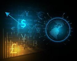 astratto mercato azionario globale e illustrazione di affari finanziari vettore