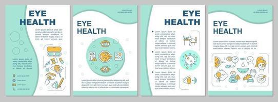 modello di brochure per la salute degli occhi vettore