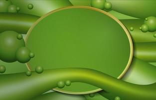 sfondo liquido verde moderno vettore