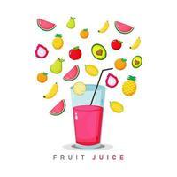 illustrazione vettoriale di succo di frutta