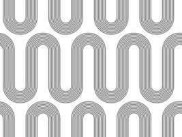 modello senza cuciture geometrico astratto boho. sfondo vettoriale con texture onda astratta.