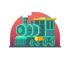 Illustrazione di locomotiva vettore