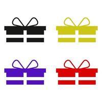 set regalo su sfondo bianco vettore
