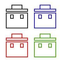 cassetta degli attrezzi impostata su sfondo bianco vettore