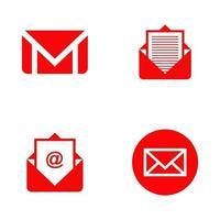 modello di progettazione di logo icona e-mail vettore