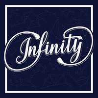 Tipografia Infinity vettore