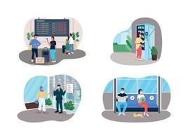 regole covid sociali banner web vettoriale 2d, set di poster