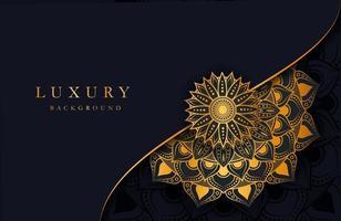 sfondo di lusso con ornamento arabesco islamico oro su superficie scura vettore
