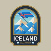 Distintivi di calcio della Coppa del mondo d'Islanda vettore