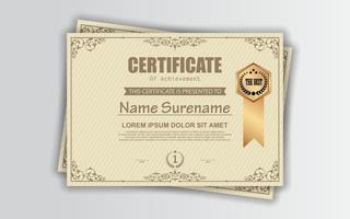 certificato di diploma di modello di realizzazione vettore