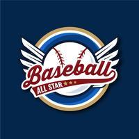 Illustrazione di baseball All Star Bagde vettore
