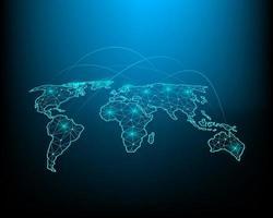 illustrazione di scambio di affari e investimenti finanziari con rete ad alta velocità in tutto il mondo. vettore