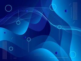 disegno moderno blu di forma geometrica astratta vettore