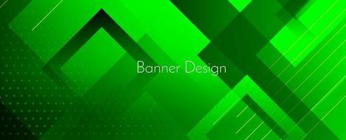 astratto geometrico verde moderno decorativo elegante sfondo banner vettore