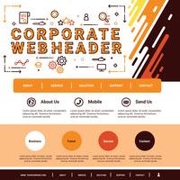 Intestazione Web aziendale vettore
