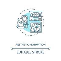 icona del concetto di motivazione estetica vettore