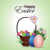 felice cartolina d'auguri di Pasqua e lo sfondo vettore