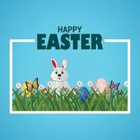biglietto di auguri e sfondo del giorno di Pasqua vettore