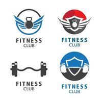 illustrazione delle immagini del logo della palestra vettore
