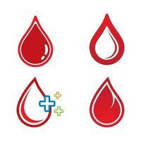 immagini del logo goccia di sangue vettore