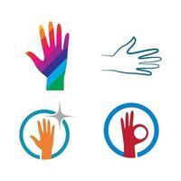 immagini del logo della mano vettore