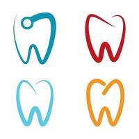 immagini del logo di cure odontoiatriche vettore