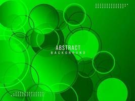 astratto geometrico verde circolare elegante modello luminoso design sfondo vettore