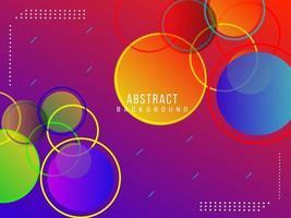 fondo di progettazione del modello luminoso elegante circolare geometrico astratto vettore