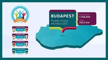 partita di calcio allo stadio di budapest vettore
