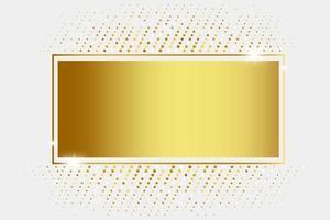 rettangolo dorato lucido con glitter vettore