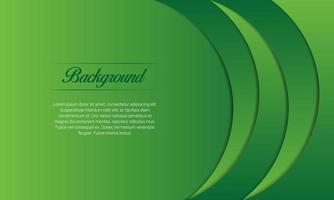 sfondo di presentazione di curve verdi vettore
