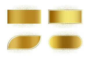collezione rettangolo dorato lucido vettore