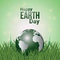 sfondo di giornata mondiale della terra con il pianeta vettore