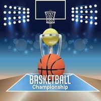 partita e sfondo del torneo di basket vettore