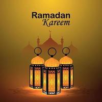 lanterna creativa del ramadan kareem vettore