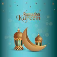 sfondo creativo di ramadan kareem o eid mubarak vettore