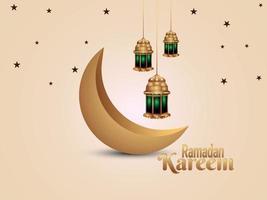 sfondo islamico di ramadan kareem con lanterna islamica vettore