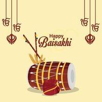 felice sfondo festival sikh vaisakhi indain vettore
